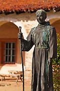 Father Serra statue, Mission San Antonio de Padua (3rd Mission-1771), Jolon, California