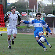 Gretna's Craig Barr  and St Johnstone's Goran Stanic in action. Scottish First Division match on 27th January 2007. McDiarmid Park Perth