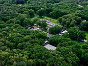 Nederland, Gelderland, Gemeente Ede, 21–06-2020;  Nationaal Park De Hoge Veluwe, Museum Kroller-Muller. Kröller-Müller Museum, hoofdgebouw.<br /> National Park De Hoge Veluwe, Museum Kroller-Muller (Kröller-Müller Museum). P<br /> <br /> luchtfoto (toeslag op standaard tarieven);<br /> aerial photo (additional fee required)<br /> copyright © 2020 foto/photo Siebe Swart