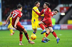 Edward Upson of Bristol Rovers collides with Jon Guthrie of Walsall - Mandatory by-line: Nizaam Jones/JMP - 26/12/2018 - FOOTBALL - Banks's Stadium - Walsall, England- Walsall v Bristol Rovers - Sky Bet League One