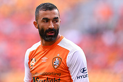 October 22, 2017 - Brisbane, QUEENSLAND, AUSTRALIA - Fahid Ben Khalfallah of the Roar (#14) looks on during the round three Hyundai A-League match between the Brisbane Roar and the Newcastle Jets at Suncorp Stadium on October 22, 2017 in Brisbane, Australia. (Credit Image: © Albert Perez via ZUMA Wire)