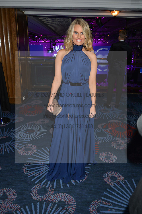 DANIELLE ARMSTRONG at the Chain of Hope Gala Ball held at The Grosvenor House Hotel, Park Lane, London on 18th November 2016.