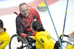 Dennis Thiessen, Guangqin Xu, Wheelchair Curling Semi Finals at the 2014 Sochi Winter Paralympic Games, Russia