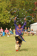 Hoop Dance By Native American Indian Man at Contemporary Pow Wow.  Springfield, Ohio, USA.