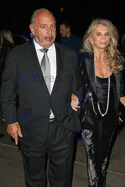 Sir Philip Green & Lady Tina Green, Music Industry Trusts Award, Grosvenor House, London UK, 02 November 2015, Photo by Brett D. Cove