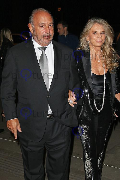 Sir Philip Green & Lady Tina Green, Music Industry Trusts Award, Grosvenor House, London UK, 02 November 2015, Photo by Brett D. Cove