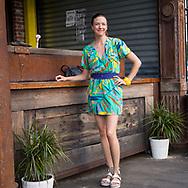 DJ Christine Renee at the BK Sunset Bash, June 2017