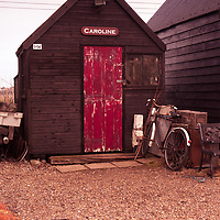 An old fishermens shed at Walberswick in Suffolk England