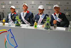 Leprevost Pénélope (FRA), Staut Kevin (FRA), Anciauxme Timothée (FRA), Bost Roger Yves (FRA)<br /> Winners of the Mercedes Benz Preis, Teil des Meydan FEI Nations Cup<br /> CHIO Aachen 2009<br /> Photo © Hippo Foto