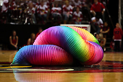 09 January 2010:  Halftime performance by the Human Slinky.The Panthers of Northern Iowa topple the Redbirds of Illinois State 59-44 on Doug Collins Court inside Redbird Arena at Normal Illinois.