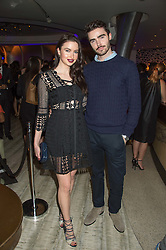EMMA MILLER and her brother MIKE MILLER at a party to celebrate the 10th anniversary of Nobu Berkeley Street held on 5th November 2015.
