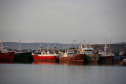 SPAIN GALICIA OZA 23AUG11 - Abandoned fishing vessels, mostly registered in the UK lie moored up in the port of Oza near La Coruna in Galicia, Spain.....jre/Photo by Jiri Rezac....© Jiri Rezac 2011