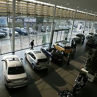BEIJING, APRIL-22, 2010:  the showroom of the BMW dealership .