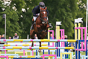 Mr Fahrenheit III ridden by Simon Grieve in the Equi-Trek CCI-4* Show Jumping during the Bramham International Horse Trials 2019 at Bramham Park, Bramham, United Kingdom on 9 June 2019.