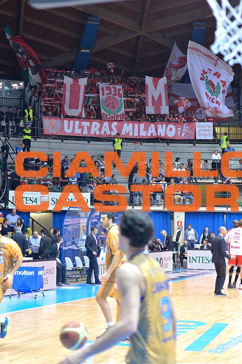DESCRIZIONE : Desio 2014-2015 Acqua Acqua Vitasnella Cant&ugrave; EA7 Emporio Armani Milano<br /> GIOCATORE :Pubblico<br /> CATEGORIA : Tifosi<br /> SQUADRA : EA7 Emporio Armani Milano<br /> EVENTO : Campionato Lega A 2014-2015 GARA : Acqua Vitasnella Cant&ugrave; EA7 Emporio Armani Milano<br /> DATA : 16/04/2015<br /> SPORT : Pallacanestro <br /> AUTORE : Agenzia Ciamillo-Castoria/IvanMancini<br /> GALLERIA : Lega Basket A 2014-2015 FOTONOTIZIA : Desio Lega A 2014-2015 Acqua Vitasnella Cant&ugrave; EA7 Emporio Armani Milano<br /> PREDEFINITA :