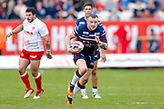 Leeds Rhinos prop Brad Singleton (10) in action  during the Betfred Super League match between Hull Kingston Rovers and Leeds Rhinos at the Lightstream Stadium, Hull, United Kingdom on 29 April 2018. Picture by Simon Davies.