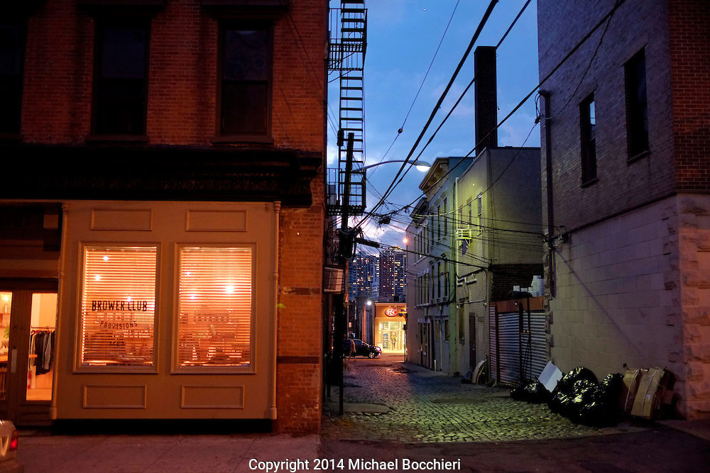 HOBOKEN, NJ - October 21:  Browler Club store next to an alley on October 21, 2014 in HOBOKEN, NJ.  (Photo by Michael Bocchieri/Bocchieri Archive)