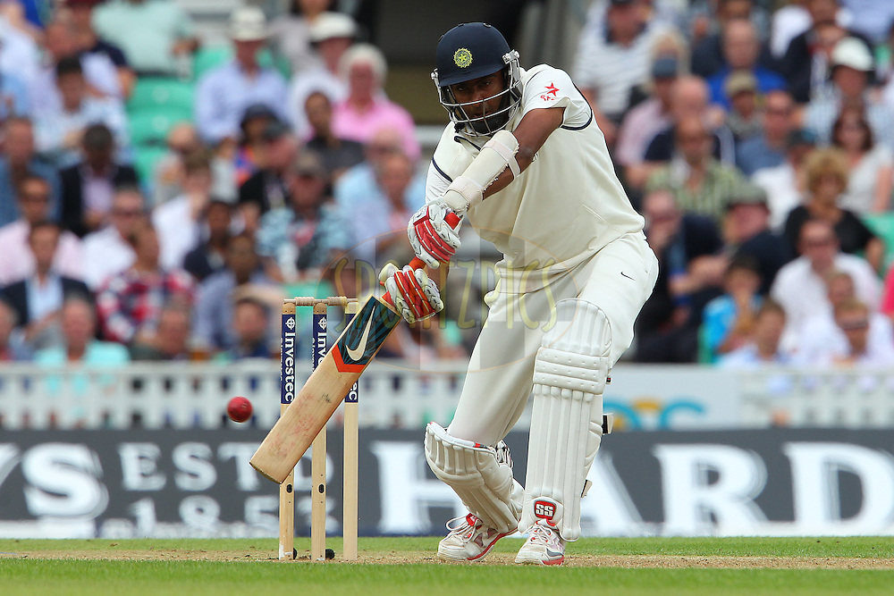 Ravichandran Ashwin of India during day one of the fifth Investec Test Match between England and India held at The Kia Oval cricket ground in London, England on the 15th August 2014<br /> <br /> Photo by Ron Gaunt / SPORTZPICS/ BCCI
