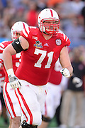 Nebraska Cornhuskers offensive lineman Jeremiah Sirles (71) during the Georgia Bulldogs 45-31 win over the Huskers in the Capital One Bowl at the Florida Citrus Bowl on Jan 1, 2013 in Orlando, Florida. ..©2012 Scott A. Miller..