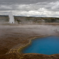Island, the land of fire and ice, is also known for its geysers and hot springs. &quot;Geysir&quot;, the original and most famous geyser in the world; <br /> &quot;Strokkur&quot;, which erupts every 5-10 minutes; and the hotspring pool Blesi, are all closely located at the geothermal area of Haukadalur.