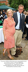 TV presenter MARIELLA FROSTRUP and her husband JASON McCUE, at a reception in London on 22nd June 2004.PWJ 61