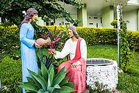 Estátua de Jesus Cristo em frente à Igreja Matriz. Iporã do Oeste, Santa Catarina, Brasil. / <br /> Statue of Jesus Christ in front of the Mother Church. Ipora do Oeste, Santa Catarina, Brazil.