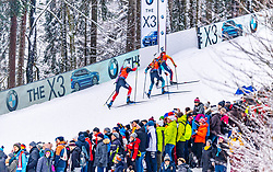 19.01.2020, Chiemgau Arena, Ruhpolding, GER, IBU Weltcup Biathlon, Verfolgung, Herren, im Bild v.l. Vetle Sjaastad Christiansen (NOR), Simon Desthieux (FRA), Benedikt Doll (GER) // f.l. Vetle Sjaastad Christiansen of Norway Simon Desthieux of France and Benedikt Doll of Germany during the men's persecution competition of BMW IBU Biathlon World Cup at the Chiemgau Arena in Ruhpolding, Germany on 2020/01/19. EXPA Pictures © 2020, PhotoCredit: EXPA/ Stefan Adelsberger