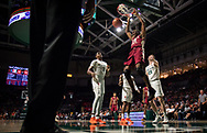 Florida State forward Mfiondu Kabengele dunks during the first half of a basketball game against University of Miami at Watsco Center in Coral Gables, Florida, Sunday, January 27, 2019.