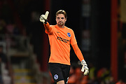 Brighton and Hove Albion goalkeeper Tim Krul (26) during the EFL Cup match between Bournemouth and Brighton and Hove Albion at the Vitality Stadium, Bournemouth, England on 19 September 2017. Photo by Adam Rivers.