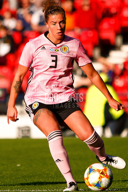 Scotlands Nicola DOCHERTY (Glasgow City LFC (SCO))  during the International Friendly match between Scotland Women and Jamaica Women at Hampden Park, Glasgow, United Kingdom on 28 May 2019.
