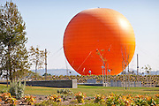 Orange Balloon At Orange County Great Park In Irvine
