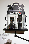 Photokina in Cologne ist the World's biggest bi-annual photo fair..Panasonic stand. Compactness of the Lumix system.