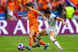 07-07-2019 FRA: Final USA - Netherlands, Lyon<br /> FIFA Women's World Cup France final match between United States of America and Netherlands at Parc Olympique Lyonnais. USA won 2-0 / Daniëlle van de Donk #10 of the Netherlands, Ali Krieger #11 of the United States