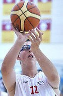 Damian Laskowski SO Poland athlete in action while basketball match SO Poland v SO Canada during second day of the Special Olympics World Games Los Angeles 2015 on July 26, 2015 on Galen Center at University of Southern California in Los Angeles, USA.<br /> USA, Los Angeles, July 26, 2015<br /> <br /> Picture also available in RAW (NEF) or TIFF format on special request.<br /> <br /> For editorial use only. Any commercial or promotional use requires permission.<br /> <br /> Adam Nurkiewicz declares that he has no rights to the image of people at the photographs of his authorship.<br /> <br /> Mandatory credit:<br /> Photo by © Adam Nurkiewicz / Mediasport