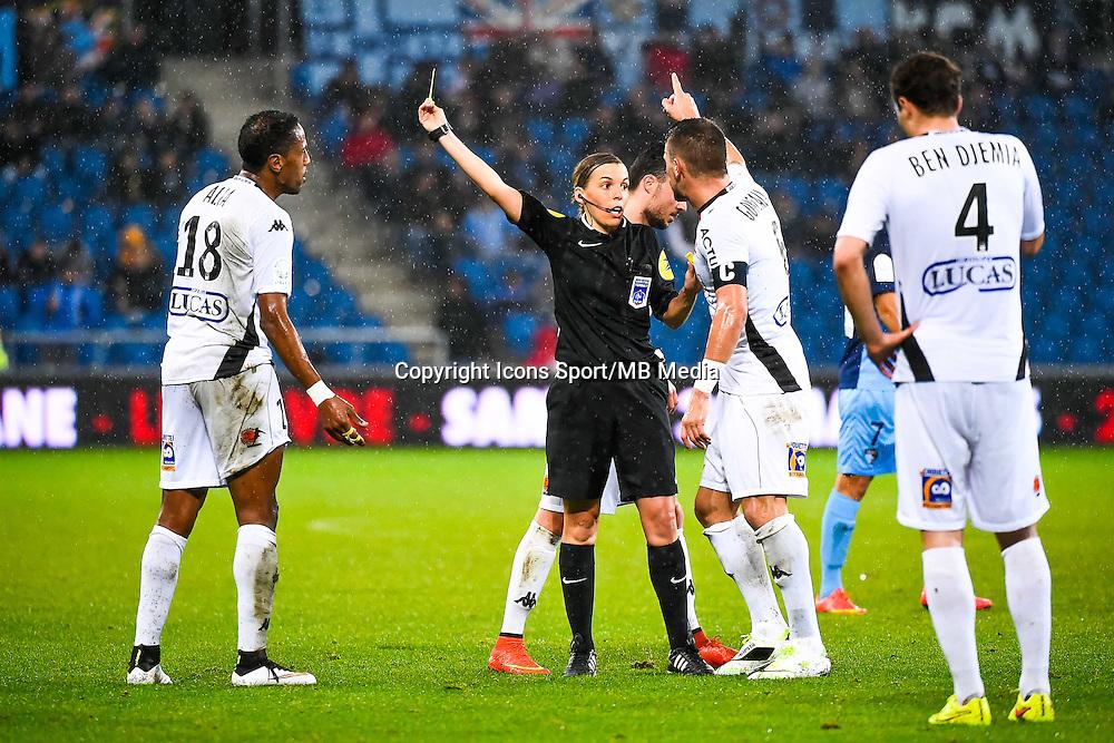 Hassane ALLA / Stephanie FRAPPART / Anthony GONCALVES  - 12.12.2014 - Le Havre / Laval - 17eme journee de Ligue 2 <br /> Photo : Fred Porcu / Icon Sport
