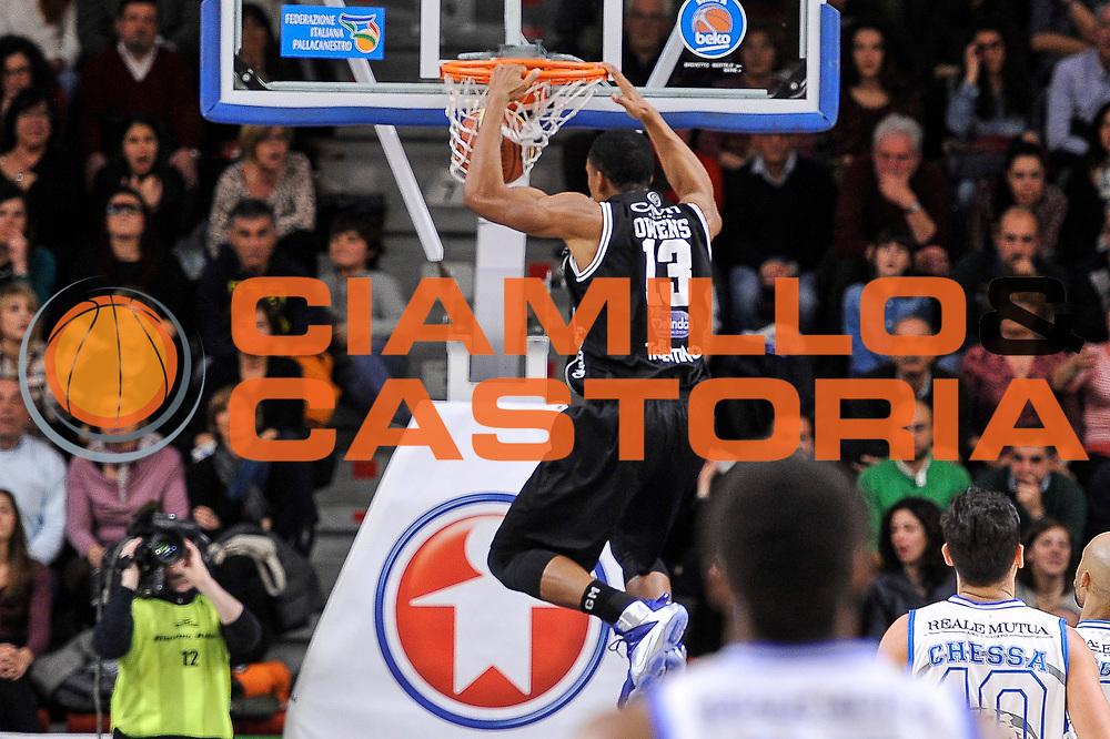 DESCRIZIONE : Campionato 2014/15 Dinamo Banco di Sardegna Sassari - Dolomiti Energia Aquila Trento<br /> GIOCATORE : Josh Owens<br /> CATEGORIA : Schiacciata Controcampo<br /> SQUADRA : Dolomiti Energia Aquila Trento<br /> EVENTO : LegaBasket Serie A Beko 2014/2015<br /> GARA : Dinamo Banco di Sardegna Sassari - Dolomiti Energia Aquila Trento<br /> DATA : 04/04/2015<br /> SPORT : Pallacanestro <br /> AUTORE : Agenzia Ciamillo-Castoria/L.Canu<br /> Predefinita :