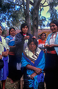 Indigenas in Chiapas province of Mexico practicing acupuncture.