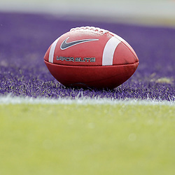 November 25, 2011; Baton Rouge, LA, USA; A detailed view of a football in the endzone prior to kickoff of a game between the LSU Tigers and the Arkansas Razorbacks at Tiger Stadium. LSU defeated Arkansas 41-17. Mandatory Credit: Derick E. Hingle-US PRESSWIRE