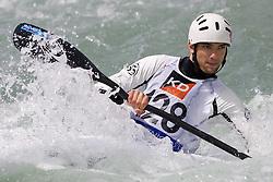 Benjamin Buys of France competes in the Men's Kayak K1 at Kayak & Canoe ICF slalom race Tacen 2010 on May 16, 2010 in Tacen, Ljubljana, Slovenia. (Photo by Vid Ponikvar / Sportida)