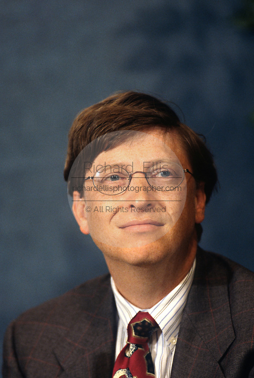 CEO of Microsoft Bill Gates during a technology event at the National Press Club June 4, 1997 in Washington, DC.