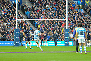 Emiliano Boffelli takes penalty during the Autumn Test match between Scotland and Argentina at Murrayfield, Edinburgh, Scotland on 24 November 2018.