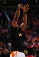Apr 18, 2010; Phoenix, AZ, USA; Phoenix Suns forward Amare Stoudemire (1) warms up prior to the first quarter of game one in the first round of the 2010 NBA playoffs at the US Airways Arena.  Mandatory Credit: Jennifer Stewart-US PRESSWIRE
