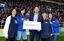 Community Foundation Cheque presentation - Mandatory byline: Robbie Stephenson/JMP - 25/05/2016 - RUGBY UNION - Ashton Gate Stadium - Bristol, England - Bristol Rugby v Doncaster Knights - Greene King IPA Championship Play Off FINAL 2nd Leg.