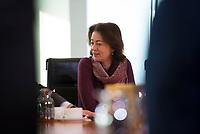 DEU, Deutschland, Germany, Berlin, 06.02.2019: Bundesjustizministerin Dr. Katarina Barley (SPD) vor Beginn der 40. Kabinettsitzung im Bundeskanzleramt.