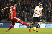 Cardiff City midfielder Kagisho Dikgacoi intercepts a Derby County pass during the Sky Bet Championship match between Derby County and Cardiff City at the iPro Stadium, Derby, England on 21 November 2015. Photo by Aaron Lupton.