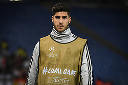 November 27, 2018 - Rome, Italy - Marcos Asensio of Real Madrid during the Champions league football match between AS Roma  and Real Madrid at Olimpico stadium in Rome, Italy, on November 27, 2018. (Credit Image: © Federica Roselli/NurPhoto via ZUMA Press)