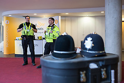 Liberal Democrat York Spring Conference , Day 1. Friday, 7th March 2014.  York , UK . Police and security arrangements being put in place at the Barbican Centre in York , ahead of the conference . The first day of the Liberal Democrat Spring Conference . Picture by Joel Goodman/i-Images