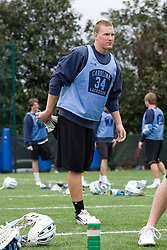 14 April 2008: North Carolina Tar Heels men's lacrosse midfielder Sean Delaney (34) during a practice day in Chapel Hill, NC.
