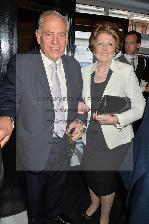 FIELD MARSHALL LORD GUTHERIE and LADY GUTHRIE ( He is the Former Chief of Defence Staff) at the Style for Soldiers dinner held at Le Caprice, 20 Arlington Street, London on 24th May 2016.