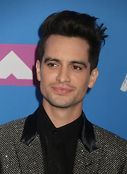 August 20, 2018 - New York City, New York, U.S. - Singer BRENDON URIE from  PANIC! AT THE DISCO attends the arrivals for the 2018 MTV 'VMAS' held at Radio City Music Hall. (Credit Image: © Nancy Kaszerman via ZUMA Wire)
